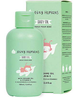 Tiny Humans Baby Olio Corpo Massaggio, Vitamina E e Olio di Sesamo - 100 ml Creme ed Olii Baby