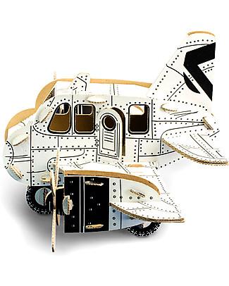 ToDo Gioco da Costruire in Cartone Livello Student, Aeroplano 75 pezzi - Ecologia e divertimento! Giochi Creativi