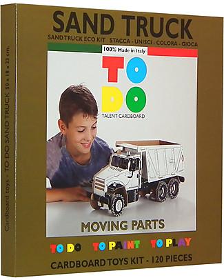ToDo Gioco da Costruire in Cartone Livello Student, Camion 117 pezzi - Ecologia e divertimento! Giochi Creativi