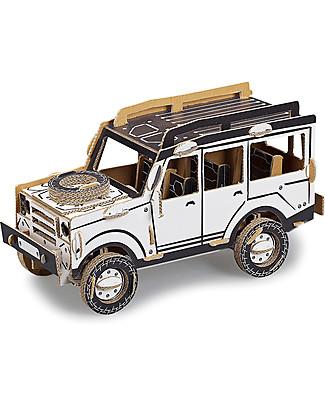 ToDo Gioco da Costruire in Cartone Livello Student, Jeep 100 pezzi - Ecologia e divertimento! Giochi Creativi
