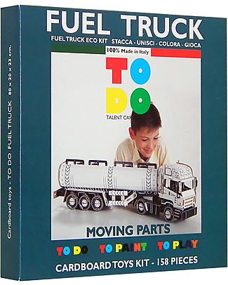 ToDo Gioco da Costruire in Cartone Livello Teacher, Camion Cisterna 158 pezzi - Ecologia e divertimento! Giochi Creativi