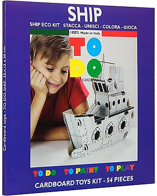ToDo Gioco da Costruire in Cartone Livello Would-Be, Nave 54 pezzi - Ecologia e divertimento! Giochi Creativi