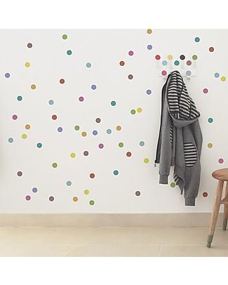 Tresxics Adesivi da Parete Amovibili Pois, Colori Assortiti - Confezione da 100 adesivi! Adesivi Da Parete