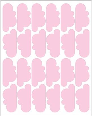 Tresxics Adesivi da Parete in Tessuto - 20 Nuvolette  - Rosa Adesivi Da Parete