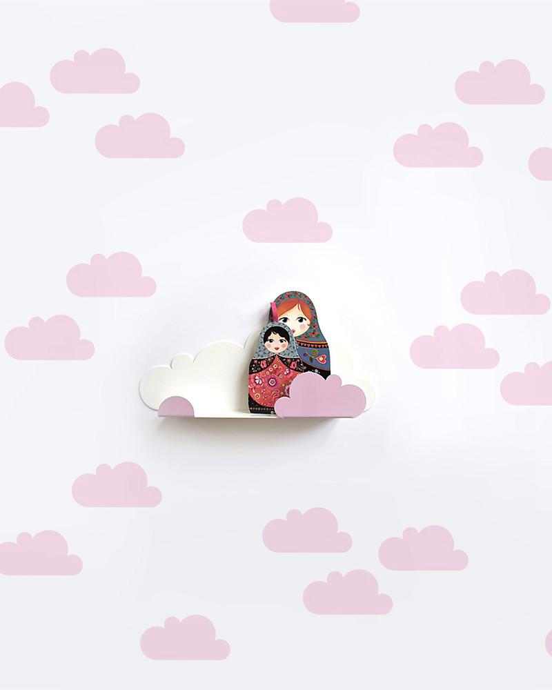Tresxics adesivi da parete in tessuto   nuvolette   rosa unisex ...