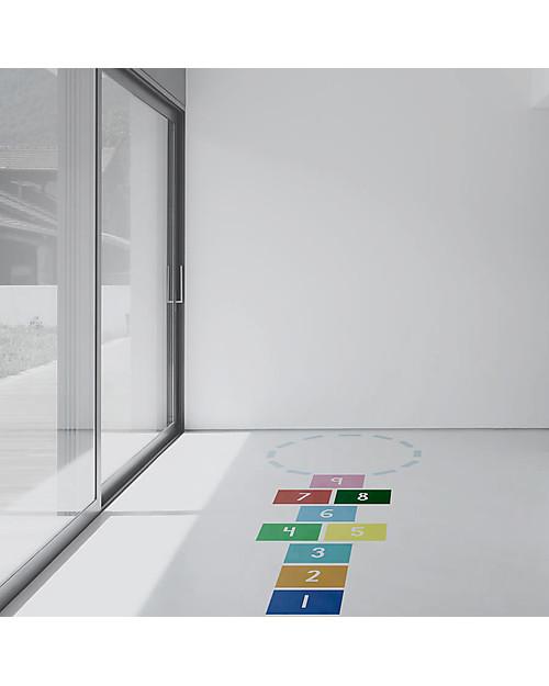 Tresxics Adesivi in Vinile per Pavimento, Gioco della Campana, Multicolore Decorazioni