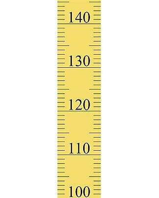 Tresxics Adesivo Amovibile Misuratore d'Altezza per Bambini, Giallo - Da 20 a 150 cm Adesivi Da Parete