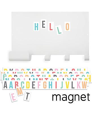 Tresxics Appendiabiti con Lettere Magnetiche - 35 x 23 cm + 60 lettere! Decorazioni