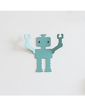 Tresxics Appendioggetti da Parete Robot, Q1 - Pratico e divertente! Appendiabiti e Grucce