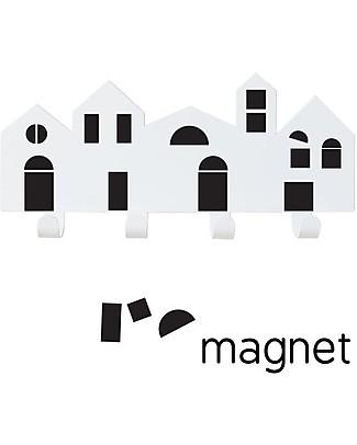 Tresxics Portaoggetti da Parete Villaggio - Con magneti intercambiabili per creare il tuo design! Appendiabiti e Grucce