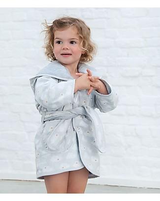 Trixie Accappatoio per Bimbi di 2-3 anni, Nuvole - Cotone Accappatoi e Asciugamani