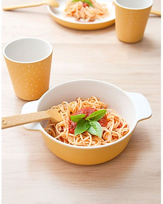 Trixie Bowl with Handles in Bamboo, Mr Lion - Encourage the child Feed Himself Bowls & Plates