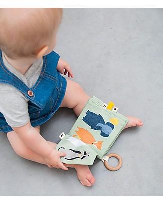 Trixie Libro in Stoffa Morbido per Neonati - 4 Animali da Conoscere! Libri