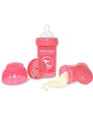 Twistshake Biberon Anti-Colica 180 ml, Pesca Dreamcatcher - Include contenitore e filtro latte! Senza BPA, BPS e BPF! Biberon Anti-Colica