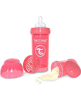 Twistshake Biberon Anti-Colica 260 ml, Pesca Dreamcatcher - Include contenitore e filtro latte! Senza BPA, BPS e BPF! Biberon Anti-Colica