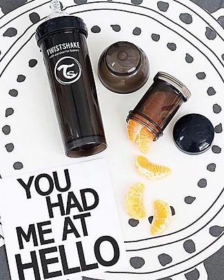 Twistshake Biberon Anti-Colica 330 ml, Nero Superhero - Include contenitore e filtro latte! Senza BPA, BPS e BPF! Biberon Anti-Colica