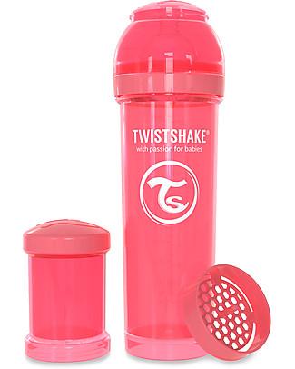Twistshake Biberon Anti-Colica 330 ml, Pesca Dreamcatcher - Include contenitore e filtro latte! Senza BPA, BPS e BPF! Biberon Anti-Colica