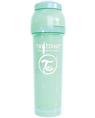 Twistshake Biberon Anti-Colica 330 ml Tettarella L, Menta - Include contenitore e filtro latte. Senza BPA, BPS e BPF! Biberon Anti-Colica