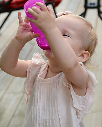 Twistshake Biberon Anti-Colica 330 ml Tettarella L, Viola - Include contenitore e filtro latte. Senza BPA, BPS e BPF! Biberon Anti-Colica