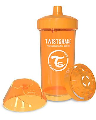Twistshake Borraccia Kid Antigoccia Fruit Splash con Mixer per Frutta, 360 ml, Arancione Sunbeam -Senza BPA, BPS e BPF! Borracce senza BPA
