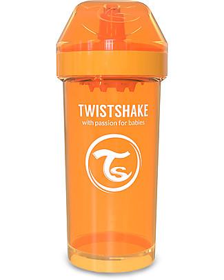 Twistshake Borraccia Kid Antigoccia Fruit Splash con Mixer per Frutta, 360 ml, Arancione Sunbeam -Senza BPA, BPS e BPF! Tazze e Bicchieri