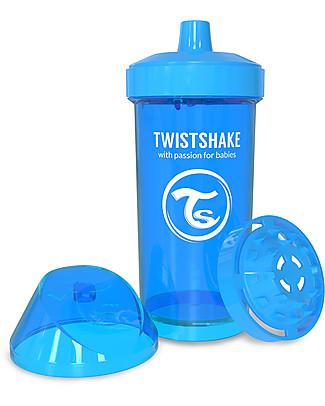 Twistshake Borraccia Kid Antigoccia Fruit Splash con Mixer per Frutta, 360 ml, Blu Cookiecrumb -Senza BPA, BPS e BPF! Borracce senza BPA