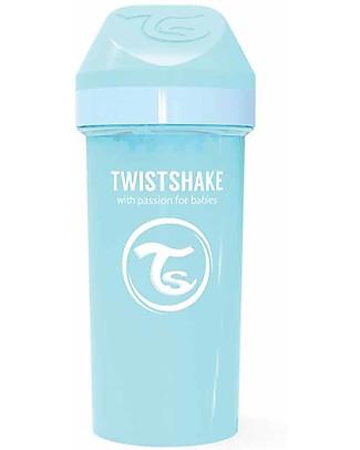 Twistshake Borraccia Kid Antigoccia Fruit Splash con Mixer per Frutta, 360 ml, Blu Pastello -Senza BPA, BPS e BPF! Borracce senza BPA