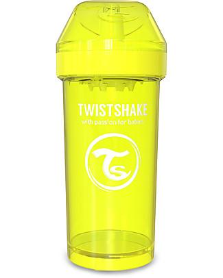 Twistshake Borraccia Kid Antigoccia Fruit Splash con Mixer per Frutta, 360 ml, Giallo Starlight - Senza BPA, BPS e BPF! Tazze e Bicchieri