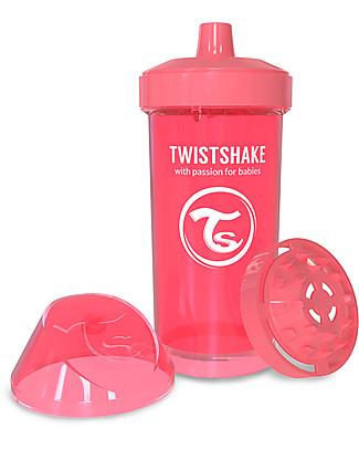Twistshake Borraccia Kid Antigoccia Fruit Splash con Mixer per Frutta, 360 ml, Pesca Dreamcatcher -Senza BPA, BPS e BPF! Borracce senza BPA