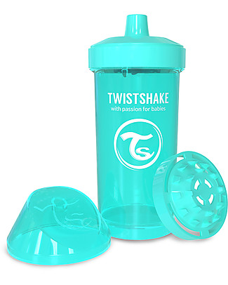 Twistshake Borraccia Kid Antigoccia Fruit Splash con Mixer per Frutta, 360 ml, Turchese Sleepyhead - Senza BPA, BPS e BPF! Borracce senza BPA