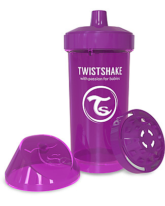 Twistshake Borraccia Kid Antigoccia Fruit Splash con Mixer per Frutta, 360 ml, Viola Bestie -Senza BPA, BPS e BPF! Borracce senza BPA