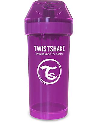 Twistshake Borraccia Kid Antigoccia Fruit Splash con Mixer per Frutta, 360 ml, Viola Bestie -Senza BPA, BPS e BPF! Tazze e Bicchieri