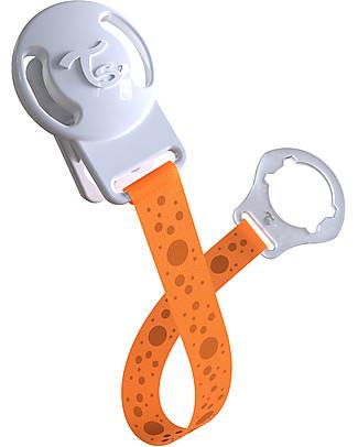 Twistshake Clip Universale Reggi Ciuccio, Arancione Sunbeam – Senza BPA! Ciucci