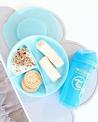 Twistshake Piatto divisorio con Coperchio - Blu Pastello - Senza BPA, BPS e BPF! Piatti e Scodelle
