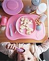 Twistshake Piatto Scodella con Coperchio - Rosa Pastello - Senza BPA, BPS e BPF! Piatti e Scodelle
