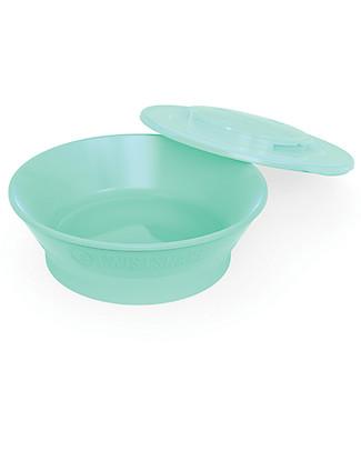Twistshake Piatto Scodella con Coperchio - Verde Pastello - Senza BPA, BPS e BPF! null