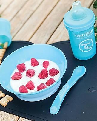 Twistshake Set 2 Cucchiai da Svezzamento - Blu Pastello - Senza BPA, BPS e BPF! Posate e Bacchette