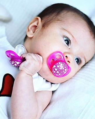 Twistshake Set da 2 Ciucci in Silicone Ortodontici Extra-Morbidi 0-6 mesi, Rosa e Viola – Senza BPA! Ciucci