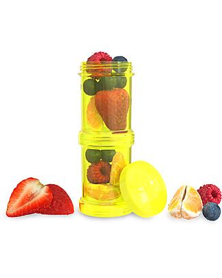 Twistshake Set di 2 Contenitori per Latte o Snack da 100 ml, Giallo Starlight - Compatibili con tutti i Biberon Twistshake, senza BPA! Biberon Anti-Colica