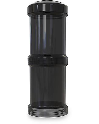 Twistshake Set di 2 Contenitori per Latte o Snack da 100 ml, Nero Superhero - Compatibili con tutti i Biberon Twistshake, senza BPA! Contenitori Latte e Snack