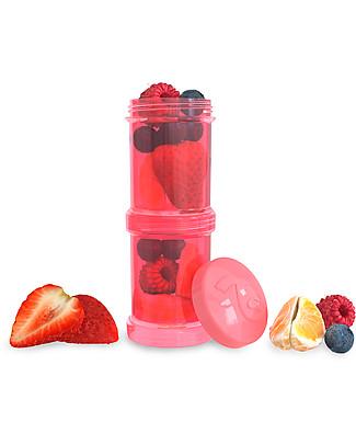 Twistshake Set di 2 Contenitori per Latte o Snack da 100 ml, Pesca Dreamcatcher - Compatibili con tutti i Biberon Twistshake, senza BPA! Biberon Anti-Colica