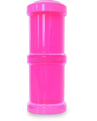 Twistshake Set di 2 Contenitori per Latte o Snack da 100 ml, Rosa Crazymonkey - Compatibili con tutti i Biberon Twistshake, senza BPA! Biberon Anti-Colica