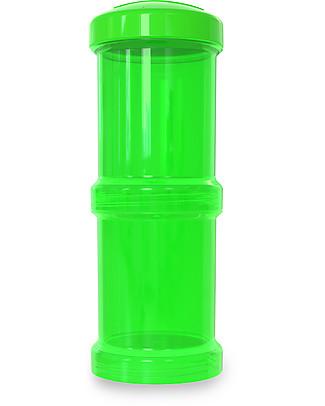 Twistshake Set di 2 Contenitori per Latte o Snack da 100 ml, Verde Sugarpuss - Compatibili con tutti i Biberon Twistshake, senza BPA! Contenitori Latte e Snack