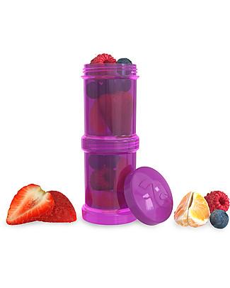 Twistshake Set di 2 Contenitori per Latte o Snack da 100 ml, Viola Bestie - Compatibili con tutti i Biberon Twistshake, senza BPA! Biberon Anti-Colica