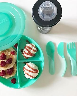Twistshake Set Posate Prime Pappe - Verde Pastello - Senza BPA, BPS e BPF! Posate e Bacchette