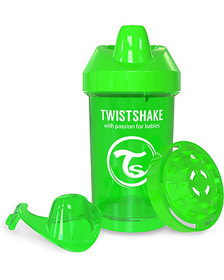 Twistshake Spill Free Sippy Cup Fruit Splash with Fruit Mixer 300 ml, Green Sugarpuss – BPA, BPS and BPF-free! Sippy Cups
