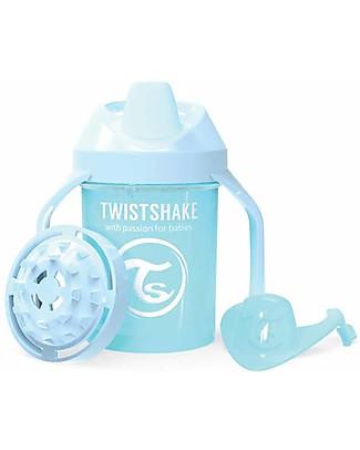 Twistshake Tazza Mini Sippy Antigoccia Fruit Splash con Mixer per Frutta, 230 ml, Celeste Pastello - Senza BPA, BPS e BPF! Tazze con Beccuccio Sippy