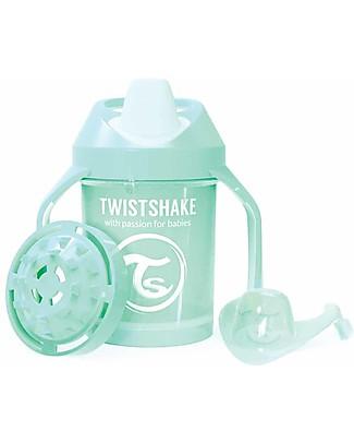 Twistshake Tazza Mini Sippy Antigoccia Fruit Splash con Mixer per Frutta, 230 ml, Menta - Senza BPA, BPS e BPF! Tazze con Beccuccio Sippy