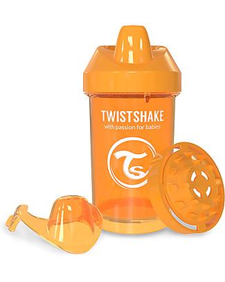 Twistshake Tazza Sippy Antigoccia Fruit Splash con Mixer per Frutta, 300 ml Arancione Sunbeam – Senza BPA, BPS e BPF! Tazze con Beccuccio Sippy