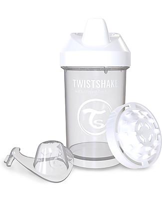 Twistshake Tazza Sippy Antigoccia Fruit Splash con Mixer per Frutta, 300 ml Bianco Diamond - Senza BPA, BPS e BPF! Tazze con Beccuccio Sippy